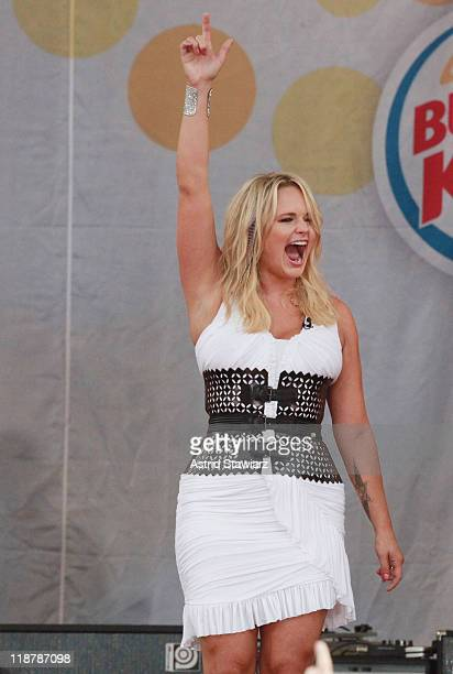 Miranda Lambert performs on ABC's 'Good Morning America' at Rumsey Playfield Central Park on July 8 2011 in New York City