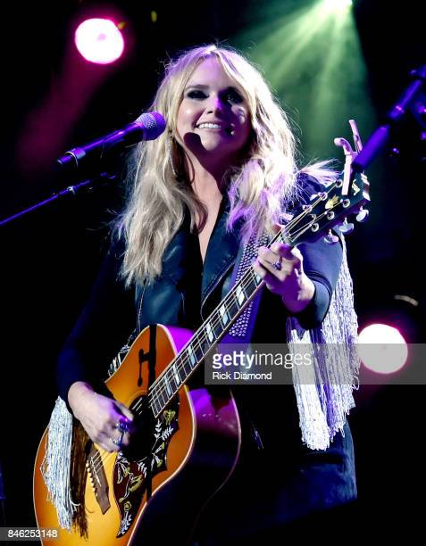 Miranda Lambert performs onstage during George Strait's Hand in Hand Texas benefit concert Strait and special guests Miranda Lambert Chris Stapleton...