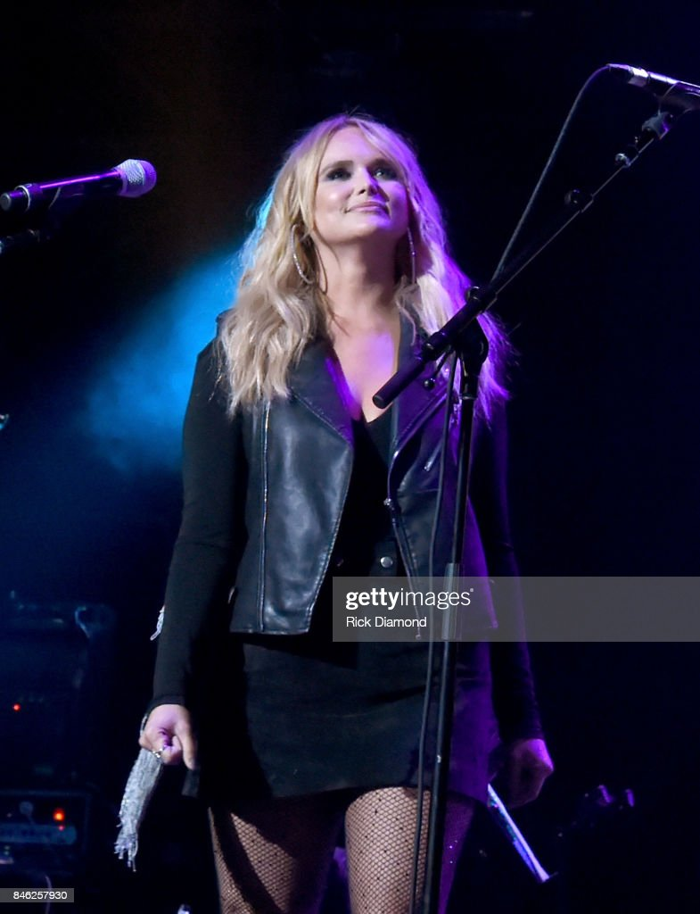 Miranda Lambert performs onstage during George Strait's Hand in Hand Texas benefit concert; Strait and special guests Miranda Lambert, Chris Stapleton, Lyle Lovett and Robert Early Keen perform in concert at the Majestic Theatre on September 12, 2017 in San Antonio, Texas.