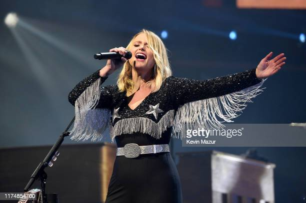 Miranda Lambert performs onstage during Miranda Lambert Roadside Bars And Pink Guitars 2019 Tour featuring Caylee Hammack Pistol Annies Elle King and...