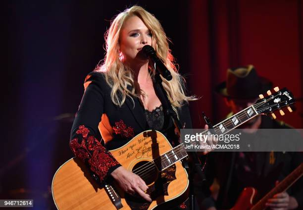 Miranda Lambert performs onstage during the 53rd Academy of Country Music Awards at MGM Grand Garden Arena on April 15 2018 in Las Vegas Nevada