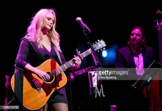 Miranda Lambert performs onstage to kick off her sold out residency at The Country Music Hall of Fame and Museum on September 19 2018 in Nashville...