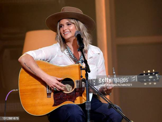 Miranda Lambert rehearses onstage for the 56th Academy of Country Music Awards at the Ryman Auditorium on April 16, 2021 in Nashville, Tennessee.