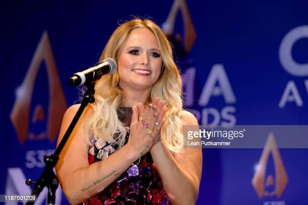Miranda Lambert speaks in the press room of the 53rd annual CMA Awards at the Bridgestone Arena on November 13, 2019 in Nashville, Tennessee.