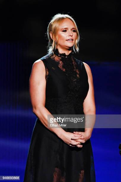 Miranda Lambert speaks onstage during the 53rd Academy of Country Music Awards at MGM Grand Garden Arena on April 15 2018 in Las Vegas Nevada
