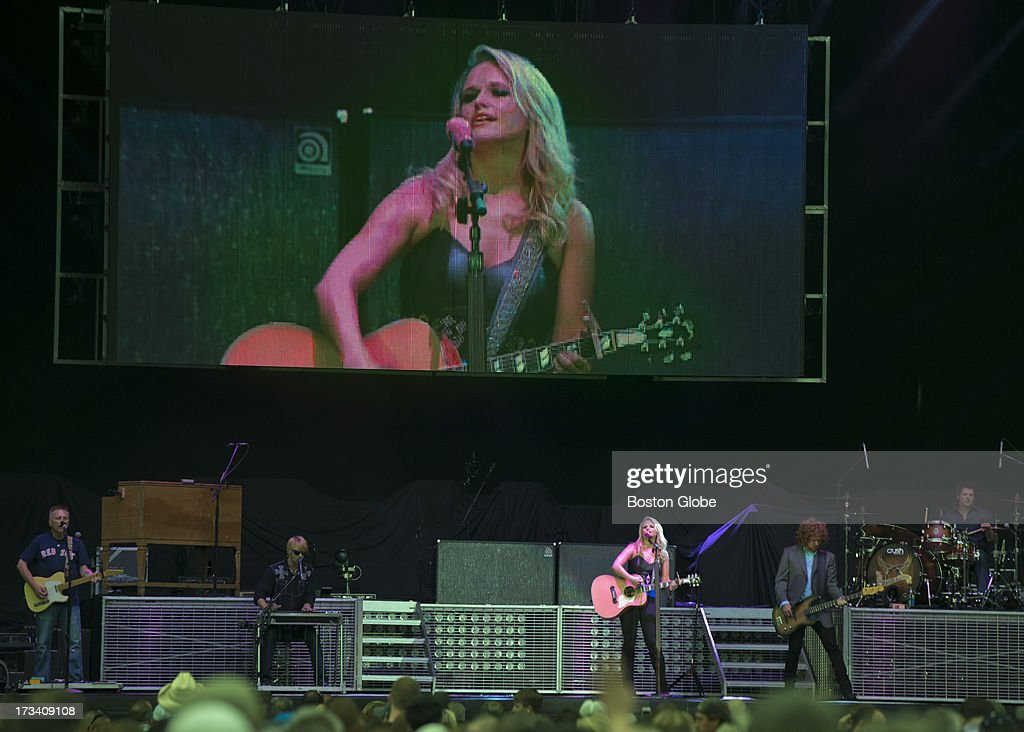 Miranda Lambert, the opening act for Jason Aldean in concert at Fenway Park, Friday, July 12, 2013.