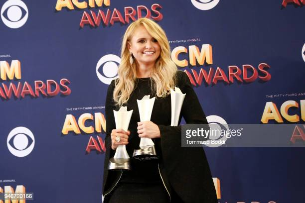 Miranda Lambert winner of the Female Vocalist of the Year award and Song of the Year award for 'Tin Man' poses in the press room during the 53rd...