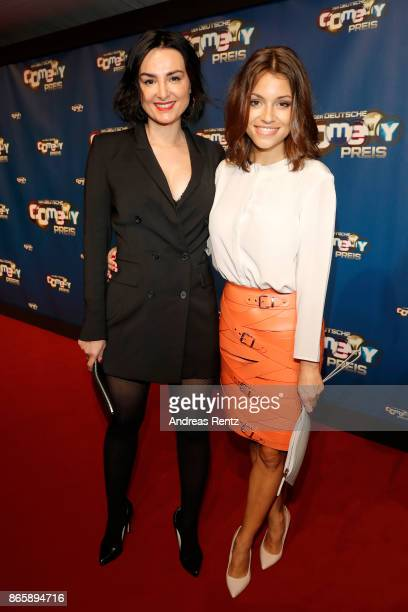 Miranda Leonhardt aka Mimi Fiedler and Anna Julia Kapfelsperger attend the 21st Annual German Comedy Awards at Studio in Koeln Muehlheim on October...