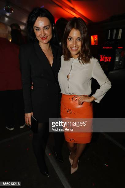 Miranda Leonhardt aka Mimi Fiedler and Anna Julia Kapfelsperger attend the after show reception during the 21st Annual German Comedy Awards on...