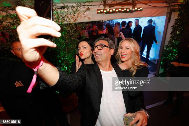 Miranda Leonhardt aka Mimi Fiedler Mousse T and Evelyn Weigert attend the after show reception during the 21st Annual German Comedy Awards on October...