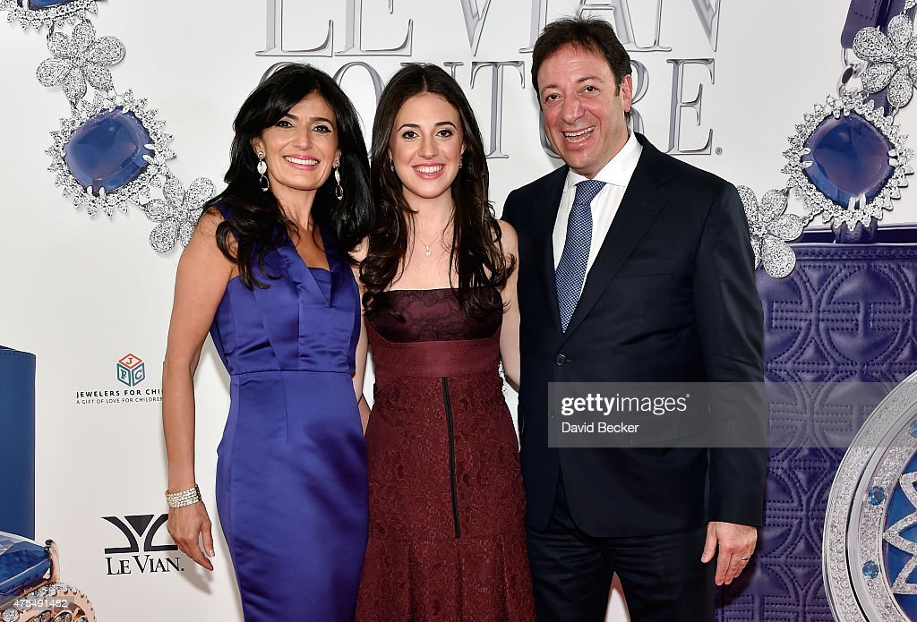 Miranda LeVian, Lexy LeVian, and Le Vian CEO Eddie LeVian attend the Le Vian 2016 Red Carpet Revue at the Mandalay Bay Convention Center on May 31, 2015 in Las Vegas, Nevada.
