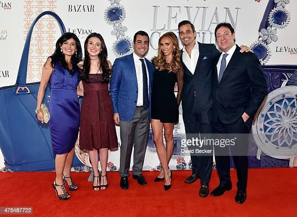 Miranda LeVian Lexy LeVian Jonathan LeVian television personality Giuliana Rancic Bill Rancic and Le Vian CEO Eddie LeVian attend the Le Vian 2016...
