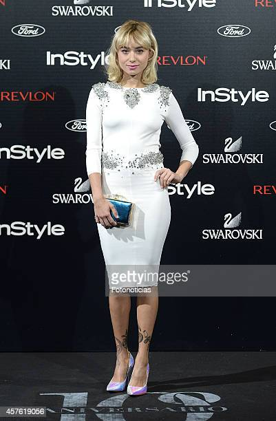 Miranda Makaroff attends the InStyle Magazine 10th anniversary party at Gran Melia Fenix Hotel on October 21 2014 in Madrid Spain