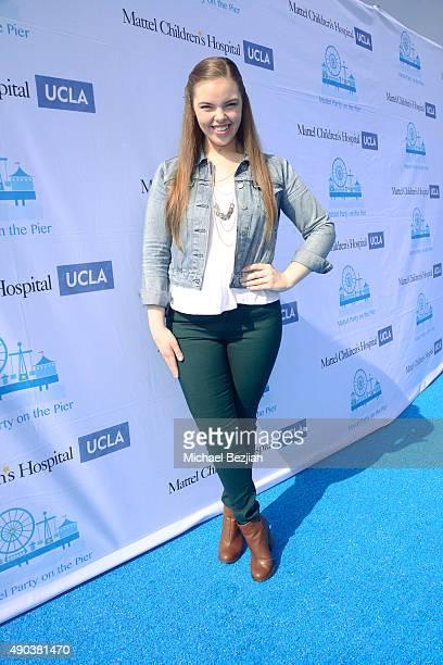 Miranda May arrives at Mattel Children's Hospital UCLA 16th Annual Party On The Pier Fundraiser at Santa Monica Pier on September 27 2015 in Santa...