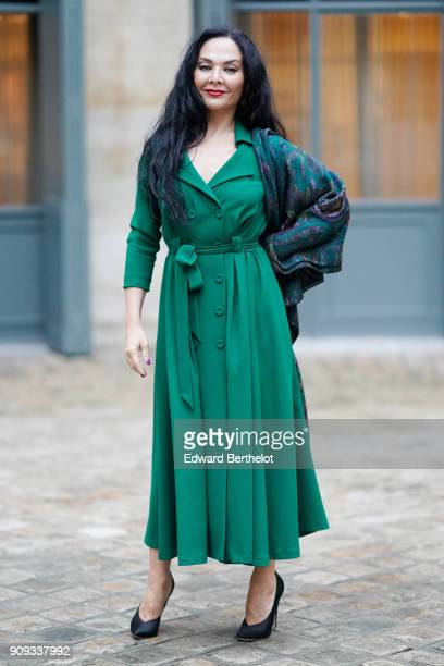 Miranda Mirianashvili attends the Ulyana Sergeenko Presentation as part of Paris Fashion Week Haute Couture Spring Summer 2018 show as part of Paris...