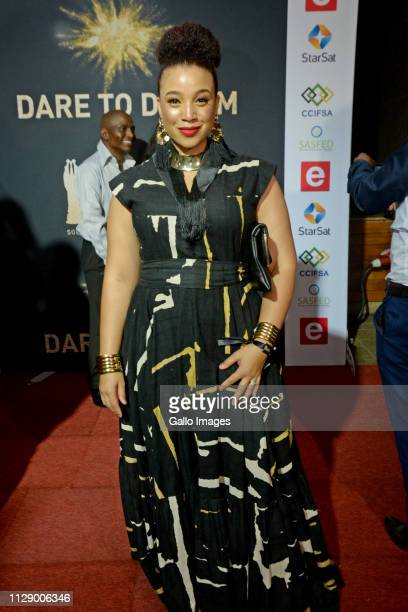 Miranda Mokhele Ntshangase during the 13th annual South African Film and Television Awards at the Sun City Superbowl on March 02 2019 in Rustenburg...