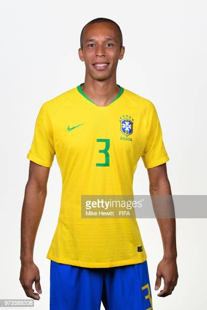 Miranda of Brazil poses for a portrait during the official FIFA World Cup 2018 portrait session at the Brazil Team Camp on June 12 2018 in Sochi...