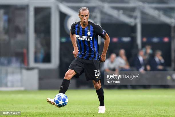 Miranda of Inter Milan during the UEFA Champions League Group B match between Inter Milan and Tottenham Hotspur at Stadio San Siro Milan Italy on 18...