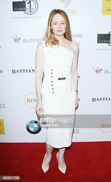 Miranda Otto arrives at Australians In Film's 6th Annual Heath Ledger Scholarship dinner held at SLS Hotel at Beverly Hills on June 12 2014 in Los...