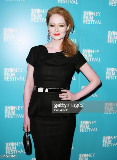 Miranda Otto attends the World Premiere of 'Beautiful Kate' as part of the Sydney Film Festival 2009 at the State Theatre on June 13 2009 in Sydney...