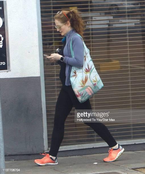 Miranda Otto is seen on April 16 2019 in Los Angeles California