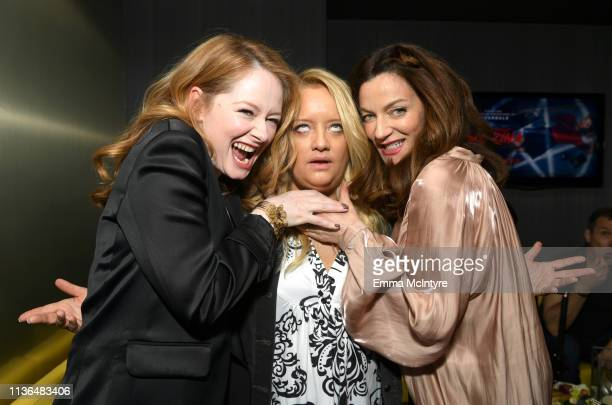 Miranda Otto Lucy Davis and Michelle Gomez attend Netflix's The Chilling Adventures of Sabrina QA and Reception at the Pacific Design Center on March...
