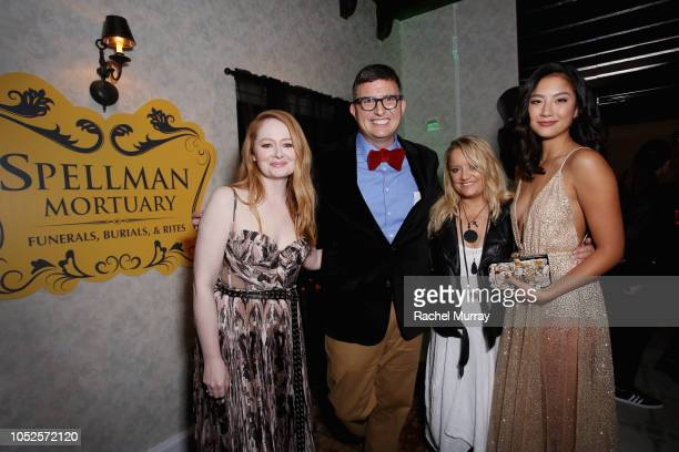Miranda Otto Roberto AguirreSacasa Lucy Davis and Adeline Rudolph attend Netflix Original Series Chilling Adventures of Sabrina red carpet and...