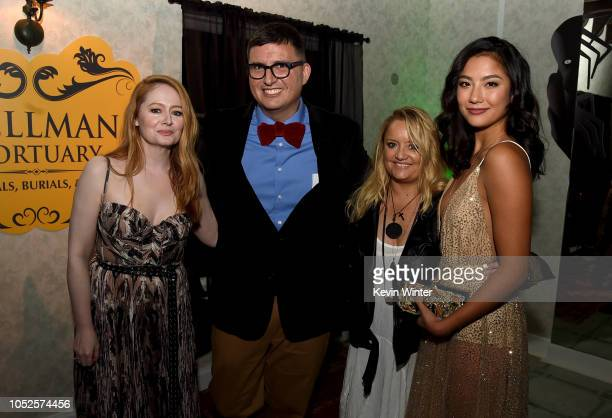 Miranda Otto Roberto AguirreSacasa Lucy Davis and Adeline Rudolph attend the after party for the premiere of Netflix's Chilling Adventures Of Sabrina...