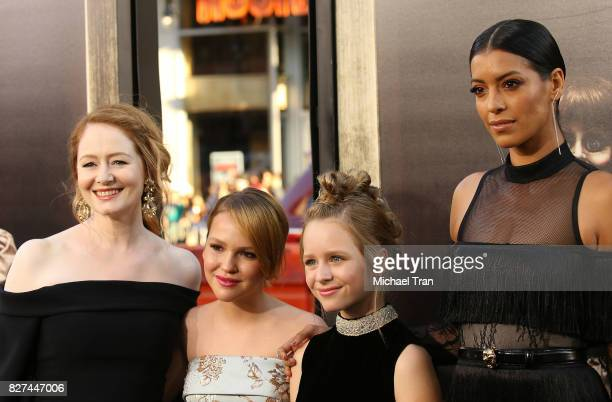 Miranda Otto Talitha Bateman Lulu Wilson and Stephanie Sigman arrive at the Los Angeles premiere of New Line Cinema's Annabelle Creation held at TCL...