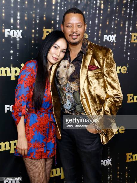Miranda Pak Howard and Terrence Howard attend Empire season 5 premiere at Lafayette on September 24 2018 in New York City
