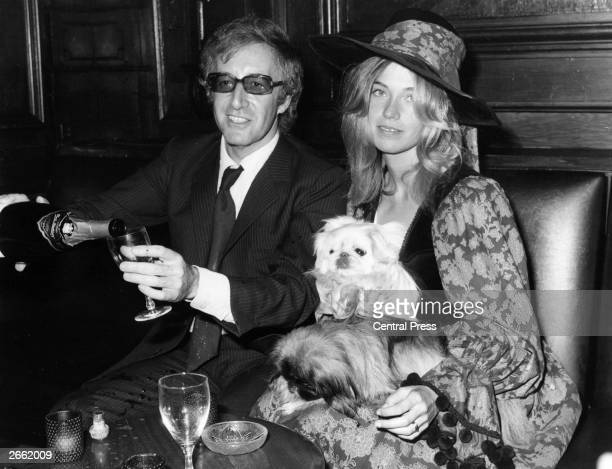 Miranda Quarry the stepdaughter of Lord Mancroft deputy chairman of Cunard's at her wedding reception following her marriage to Peter Sellers They...