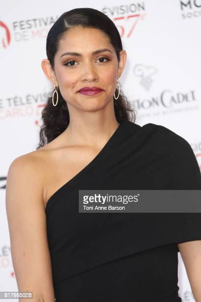 Miranda Rae Mayo arrives at the Opening Ceremony of the 57th Monte Carlo TV Festival and World premier of Absentia Serie on June 16 2017 in...