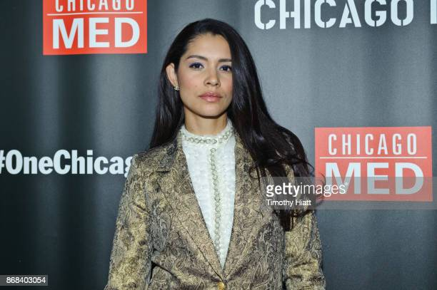 Miranda Rae Mayo attends the One Chicago party during NBC's One Chicago press day on October 30 2017 in Chicago Illinois