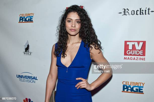 Miranda Rae Mayo attends TV Guide Celebrates Cover Stars Taylor Kinney Jesse Spencer at RockIt Ranch on April 10 2017 in Chicago Illinois
