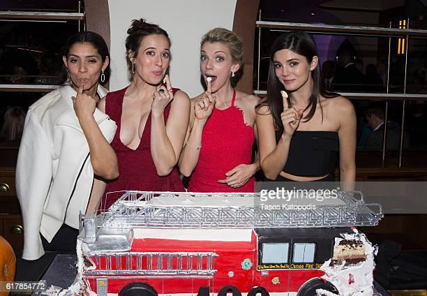 Miranda Rae Mayo Marina Squerciati Kara Killmer and Monica Barbaro attends the NBC's Chicago series fall season kickoff party on October 24 2016 in...