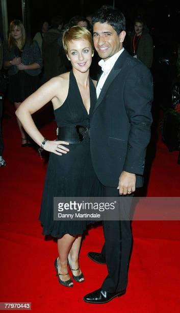 Miranda Raison and friend attends the Variety Club ShowBiz Awards 2007 at the London Hilton on November 18 2007 in London England