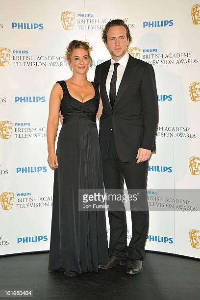 Miranda Raison and Rafe Spall pose in the press room at the Philips British Academy Television Awards at London Palladium on June 6 2010 in London...