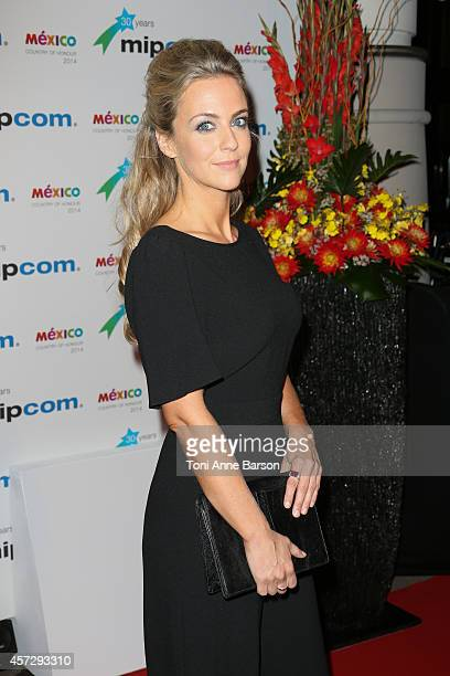 Miranda Raison arrives at the MIPCOM opening Party at Hotel Martinez on October 13 2014 in Cannes France