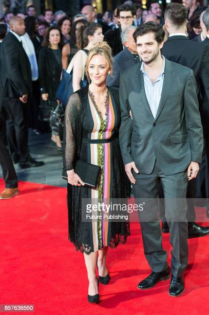 Miranda Raison arrives for the UK film premiere of Breathe at Odeon Leicester Square during the 61st BFI London Film Festival Opening Night Gala...