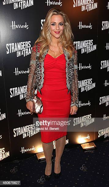 Miranda Raison attends an after party following the press night performance of Strangers On A Train at the Cafe de Paris on November 19 2013 in...