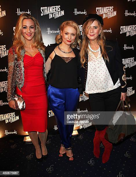 Miranda Raison Myanna Buring and Imogen Stubbs attend an after party following the press night performance of Strangers On A Train at the Cafe de...