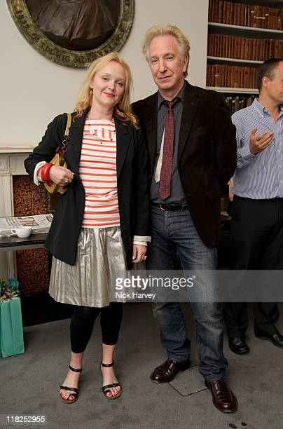 Miranda Richardson and Alan Rickman attend 'Independent Voices 5x15 Hacked Off with Free Speech' at The Royal Institute of Great Britain on July 5...