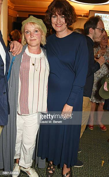 Miranda Richardson and Anna Chancellor attend the UK Premiere of 'The Carer' at the Regent Street Cinema on August 5 2016 in London England