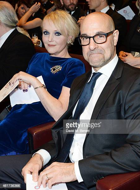 Miranda Richardson and Stanley Tucci attend The Critics' Circle Film Awards at The May Fair Hotel on January 18 2015 in London England
