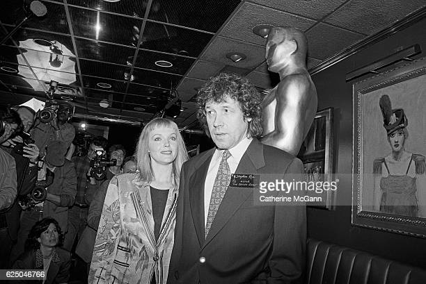 Miranda Richardson and Stephen Rea attend the nominees luncheon for 65th Annual Academy Awards on March 23, 1993 at the Russian Tea Room in New York...