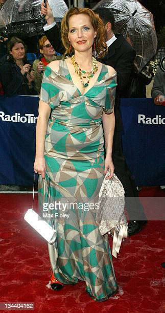 Miranda Richardson during 50th Annual BAFTA Television Awards Arrivals at Grosvenor House Hotel in London Great Britain