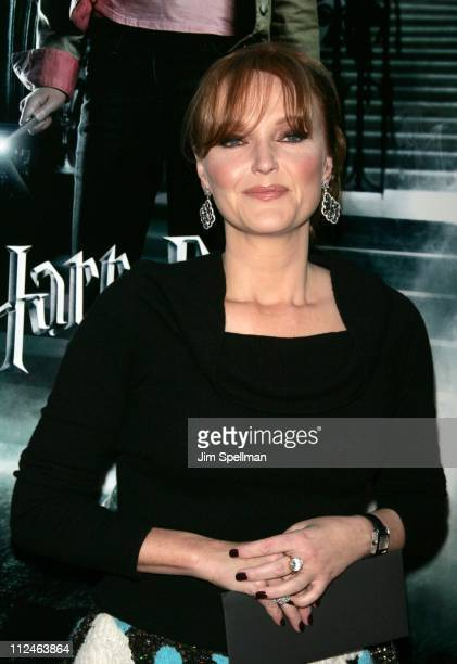 Miranda Richardson during Warner Bros' 'Harry Potter and the Goblet of Fire' New York City Premiere Outside Arrivals at Ziegfeld Theater in New York...