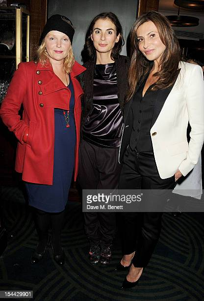Miranda Richardson Francesca Amfitheatrof and Ella Krasner attend the launch of The Krasner Fund for the BFI at The Ivy on October 19 2012 in London...