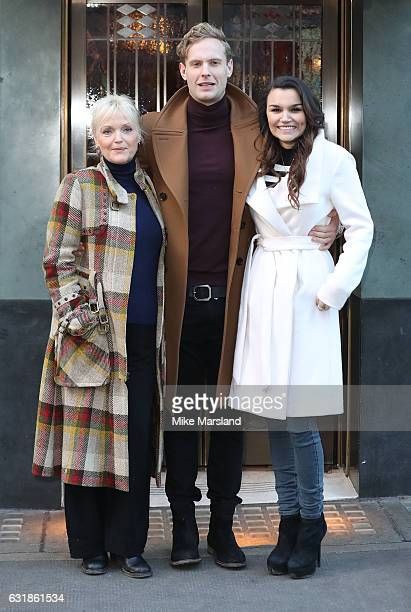Miranda Richardson Jack Fox Samantha Barks attends 100 Years Of The Ivy Celebrated by Unveiling Of Green Plaque Photocall on January 17 2017 in...