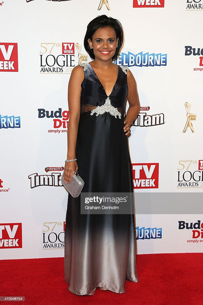 Miranda Tapsell arrives at the 57th Annual Logie Awards at Crown Palladium on May 3, 2015 in Melbourne, Australia.